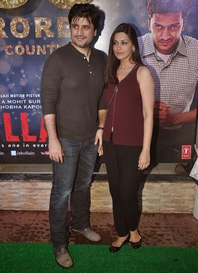 Goldie Behl With Wife Sonali Bendre Posed For Lenses During 100 Crore Success Party Of Ek Villain