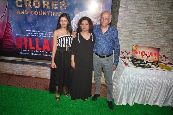 Mukesh With His Wife Nilima And Daughter Sakshi Clicked At Ek Villain 100 Crore Success Party