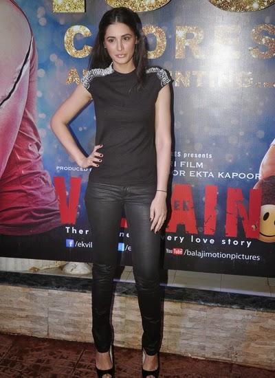 Nargis Fakhri Posed During The 100 Crore Success Party Of Ek Villain