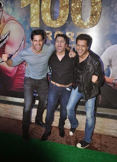 Sidharth Malhotra,Mohit Suri And Riteish Deshmukh Laughing Pose During Ek Villain Movie 100 Crore Success Party