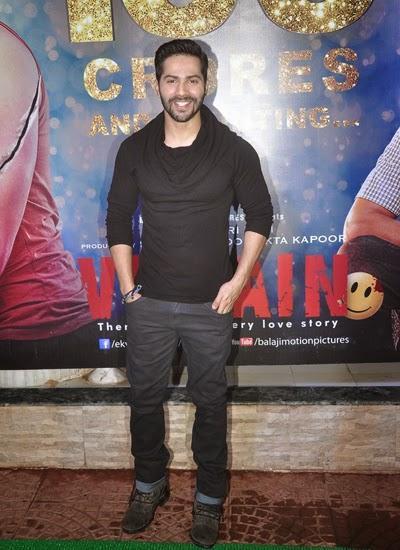 Varun Dhawan Flashes Smiling At Ek Villain Movie 100 Crore Success Party