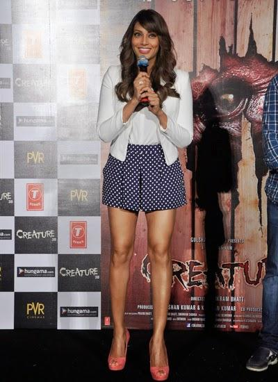 Bipasha Basu Flaunts His Sexy Legs During The Launch Of Creature 3D Movie