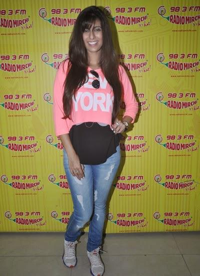 Khushboo Grewal Snapped To Promote Pink Lips Latest Song