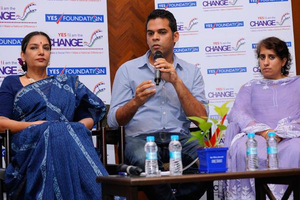 Shabana,Vikramaditya And Guneet At Formal Launch Of Yes I Am The Change