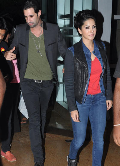 Sunny Leone Out On A Casual Day With Hubby Daniel Weber