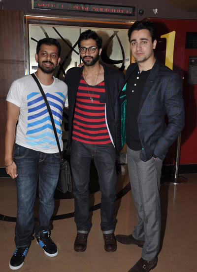 Bejoy,Akshay And Imran Snapped During Pizza 3D Movie Special Screening