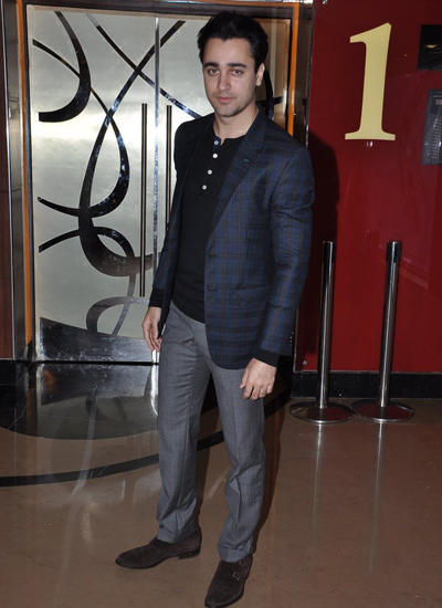 Imran Khan Dappers Look In Black Suit At Pizza 3D Horror Film Special Screening Event