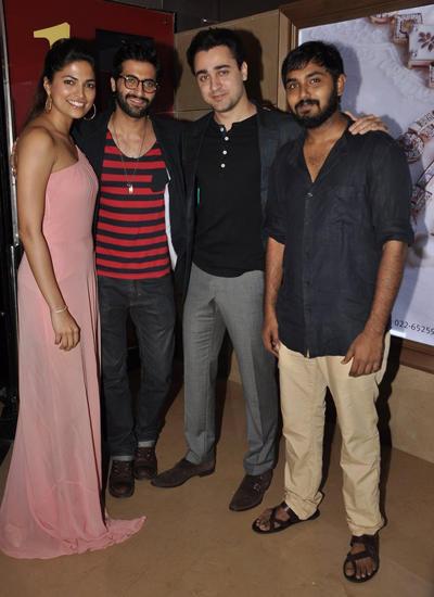 Parvathy,Akshay Oberoi,Imran And Akshay Akkineni Clicked At Pizza 3D Movie Special Screening
