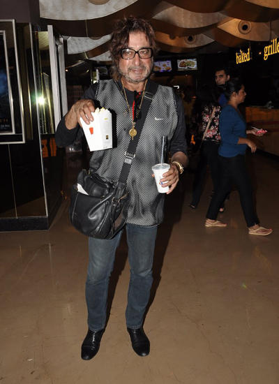 Shakti Kapoor Strikes A Pose For Camera At Pizza Film Special Screening Event