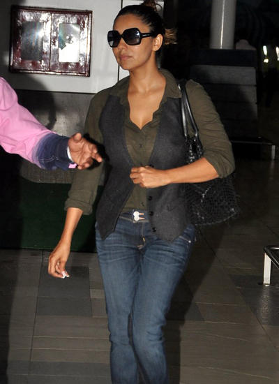 Gauri Khan Seen At Domestic Airport In Mumbai