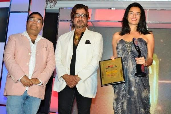 Shakti Kapoor  Pose With Other Celebs At India Leadership Conclave In Hilton