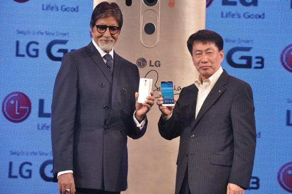 Actor Amitabh Today Launched LG Electronics New Flagship Smartphone The LG G3