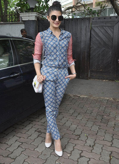 Jacqueline Fernandez Spotted For Kick Promotion In Mumbai