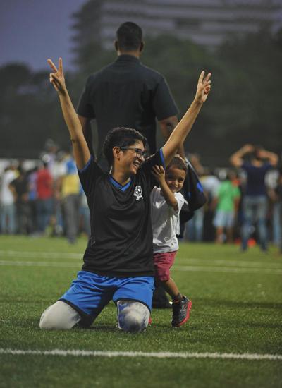 Kiran Rao With Son Azad Shares A Hug On The Field