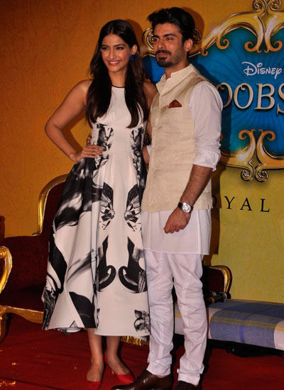 Sonam Kapoor And Fawad Khan Attend The Trailer Launch Of Their Film Khoobsurat