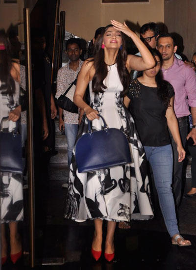 Sonam Spotted At Khoobsurat Trailor Launch