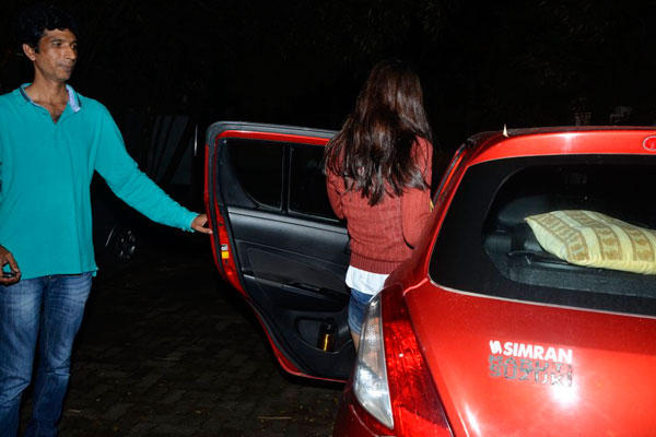 Kalki Arrived In Her Red Car Which Was Waiting Outside The Studio