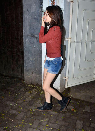 Kalki Snapped Outside Sunny Super Sound Studio