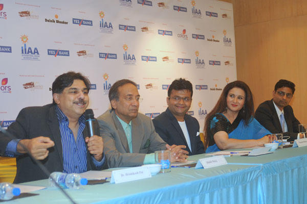 Poonam With Others At Press Conference For The Announcement Of IIAA