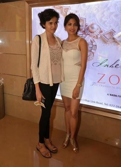 Parvathy Posed With A Friend At Pizza 3D Special Screening Party Host By Parvathy Omanakuttan