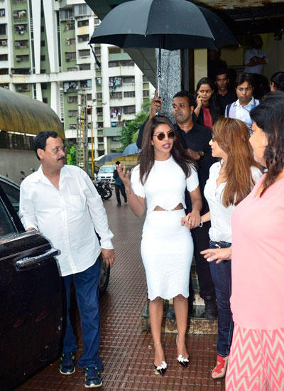 Priyanka Attend The First Look Launch Of Her Forthcoming Movie Mary Kom Held At PVR Citi Mall
