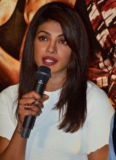 Priyanka Chopra Interact With Media At The Mary Kom Trailer Launch
