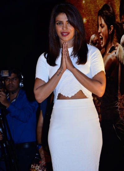 Priyanka Chopra Spotted At Her Forthcoming Movie Mary Trailer Launch