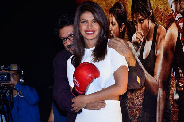 Sanjay Leela Bhansali Hug Priyanka During The Trailer Launch Of Mary Kom