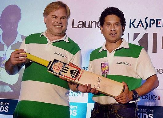 Eugene Kaspersky And Sachin Tendulkar Unveils Kaspersky Kids