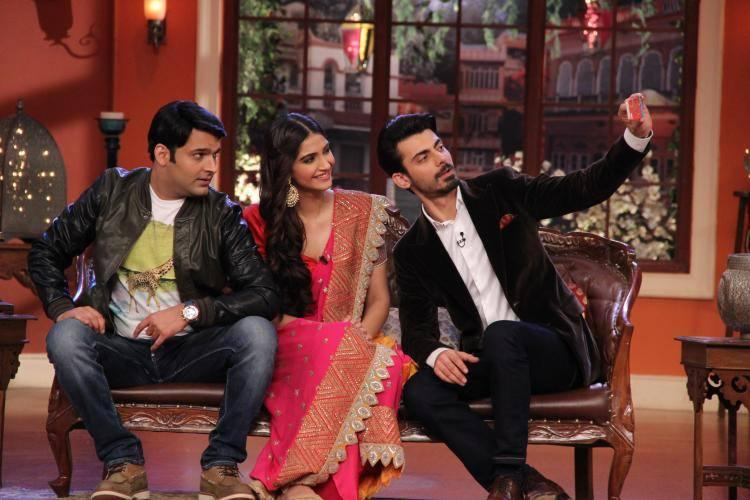 Fawad And Sonam On The Sets Of CNWK For Their Upcoming Movie Khoobsurat Promotion