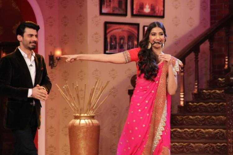 Sonam And Fawad Enjoy The Show CNWK During Khoobsurat Promotion