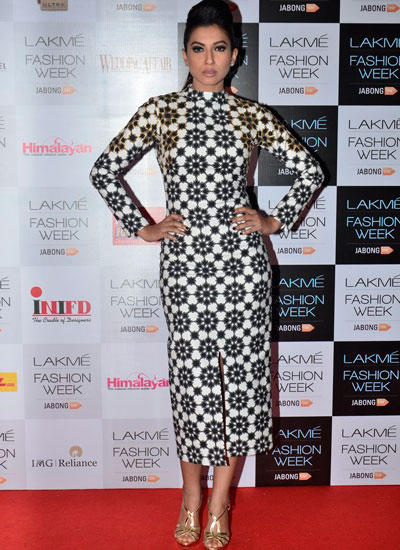 Gauhar Khan Stylish Look At LFW Winter/Festive 2014 Curtain Raiser