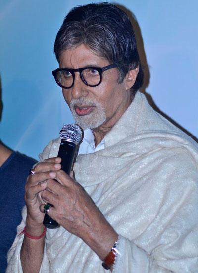 Big B Speaks During The Launch Of Shekhar Ravjiani New Single Hanuman Chalisa