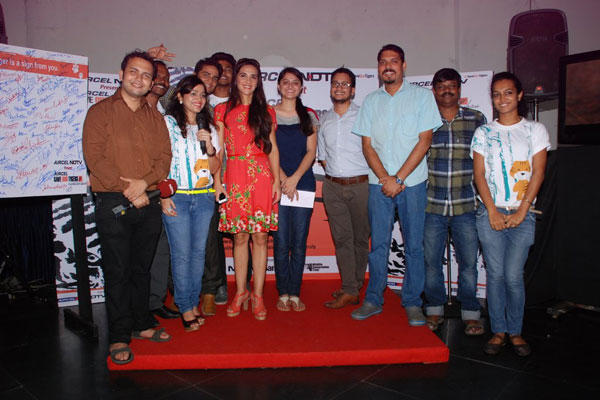Tara Sharma And Others Clicked At NDTV Save Our Tigers Campaign 2014