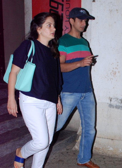 Sharman With His Wife Prerana Spotted At PVR Theatre