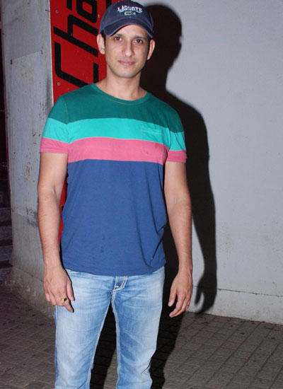 Sharman Joshi In Colorful Tee Snapped At PVR Theatre