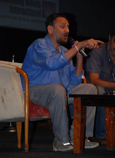 Shekhar Kapur Interacts With Media During The Graduation Ceremony Of Whistling Woods International Institute