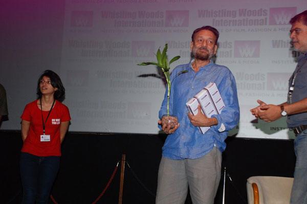 Shekhar Kapur Posed At Whistling Woods International Institute Graduation Ceremony