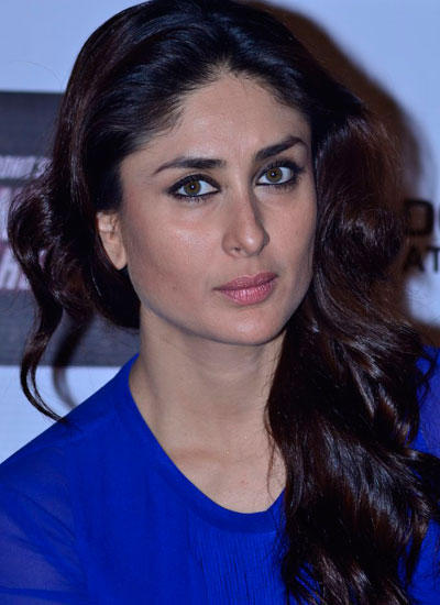 Kareena Flaunting Her Hair Stylish Look During The Merchandise Launch Of Singham Returns