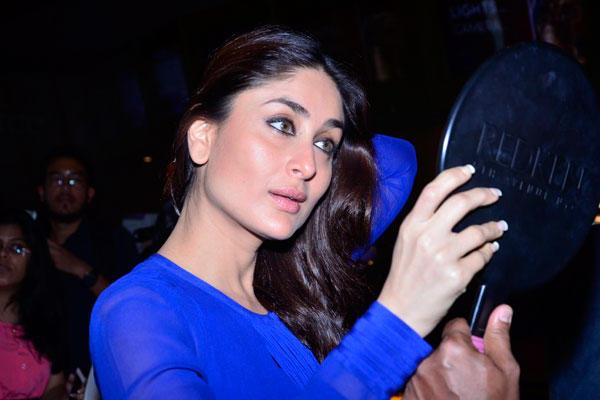 Kareena Kapoor Take Make Up Before The Merchandise Launch Of Singham Returns
