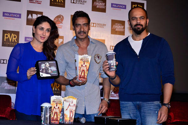 Kareena,Ajay And Director Rohit Launched Singham Returns Merchandise