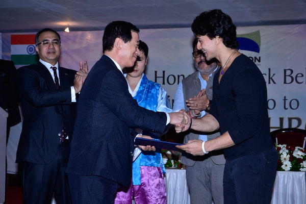 Tiger Shroff Felicitated With 5th Degree Black Belt