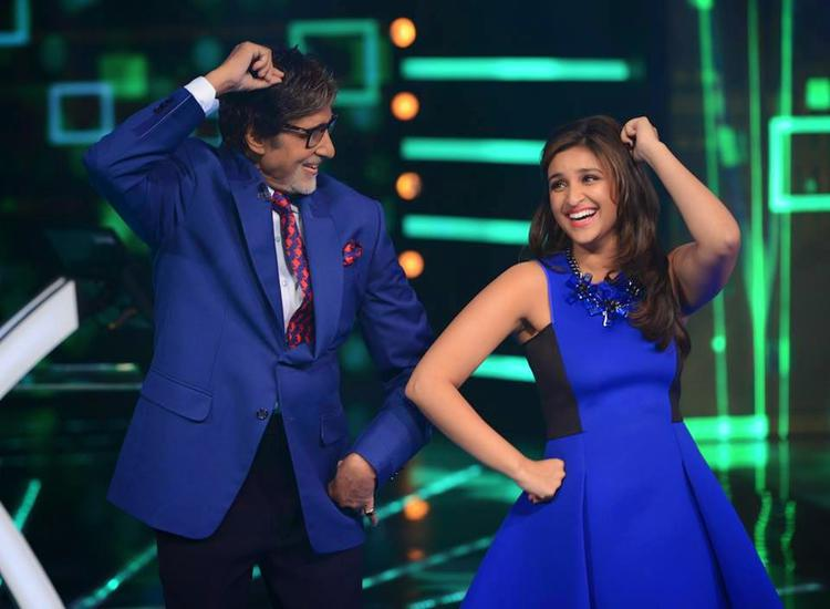 Big B And Parineeti Danced On The Sets Of KBC During The Promotion Of Daawat-E-Ishq