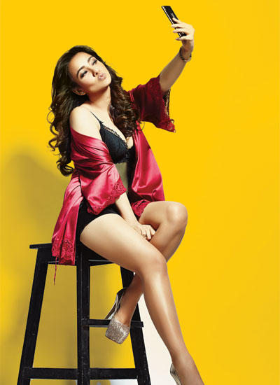 Glamorous New Comer Neha Graces The Cover Of FHM India Magazine August 2014