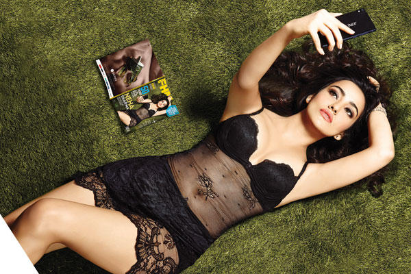 Neha Sharma Black Hot Outfit Sizzling Sexy Photo Shoot For Hip Men's August Issue