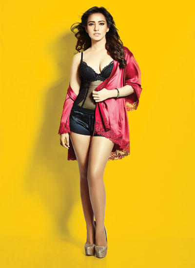 Neha Sharma Glam The FHM India Magazine Cover August 2014 Issue