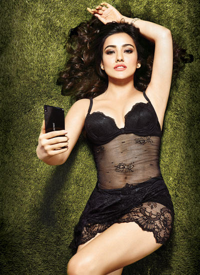 Radiant Neha Sharma Laying On Grass Sexy Pose For Hip Men's Magazine Issue