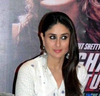 Kareena During The Press Conference Of Singham Returns In Ahmedabad