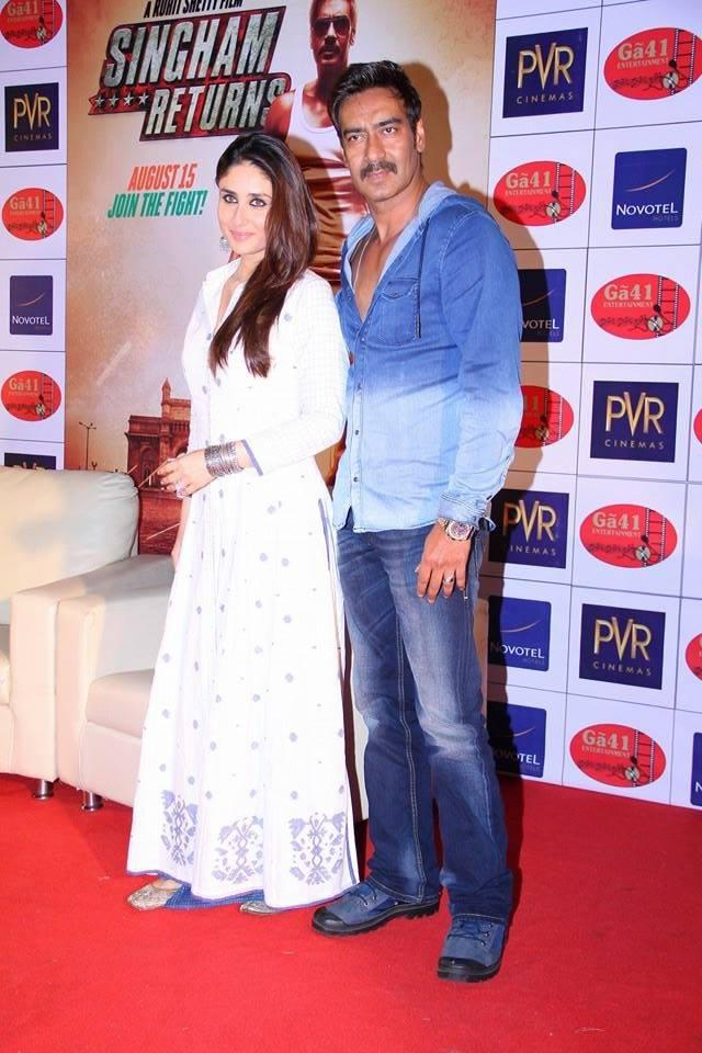 Singham Returns Press Conference In Ahmedabad With Ajay And Kareena