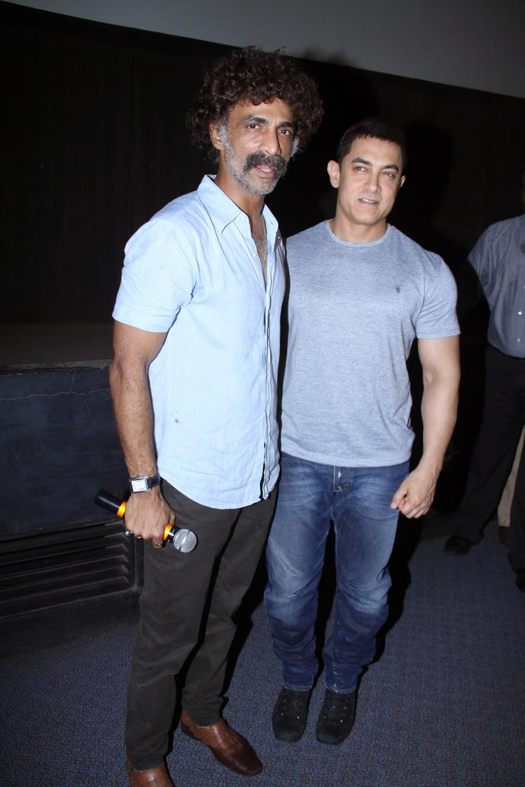 Aamir Khan Attends Screening Of Marathi Film Saturday Sunday